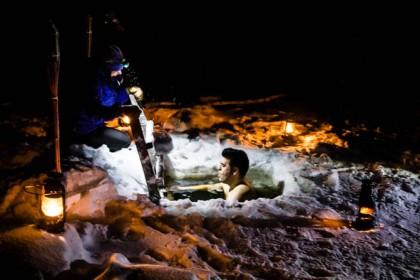 Isvak: metiendome en un agujero en el hielo