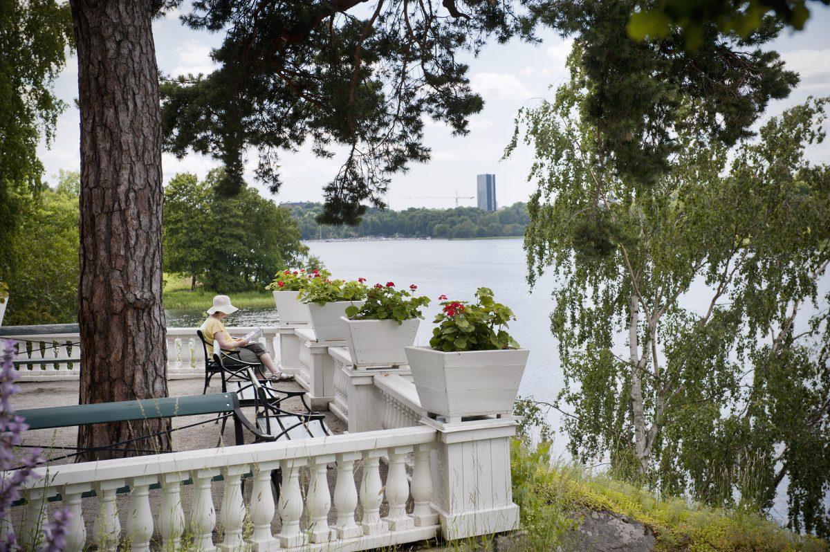 La terraza italian en Bergianska trädgården <br> Foto: Eva Dalin