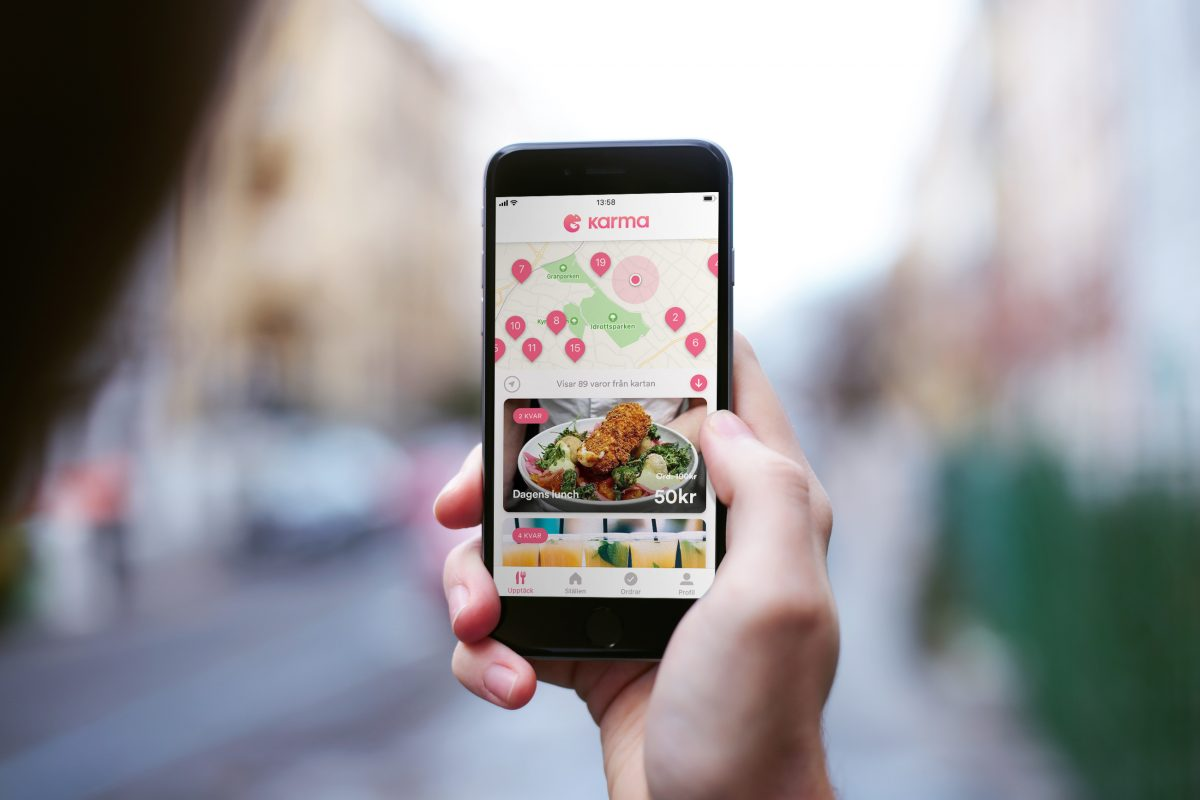 Karma an app and a sustainable way to save money on food in Sweden