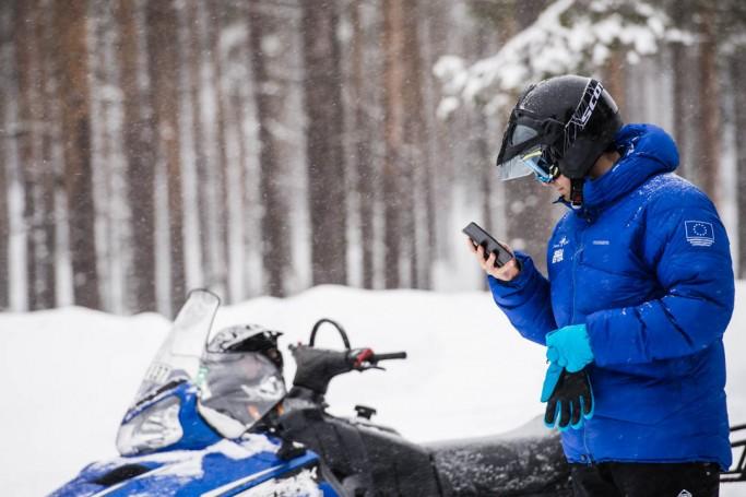 Moto de nieve en Suecia - Foto: Ted Logardt / visitskellefteå.se