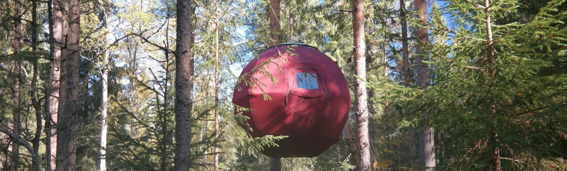 Schlaf in einer Baumhütte in Dalarna, Schweden