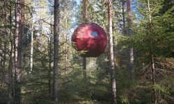 Näsets Marcusgård Supermåne. una cabaña en los árboles de Dalarna, Suecia Foto: nasets-marcusgard.se