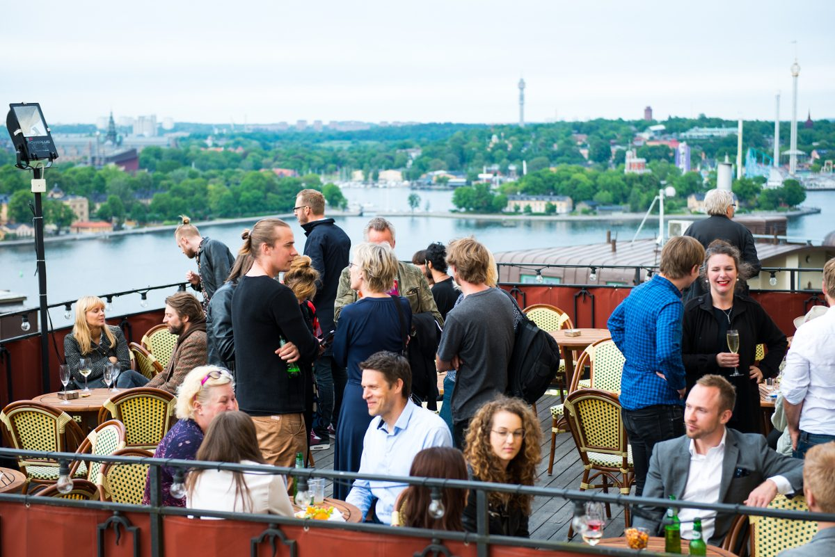 One of the bars at Mosebacketerrassen on Södermalm, Stockholm