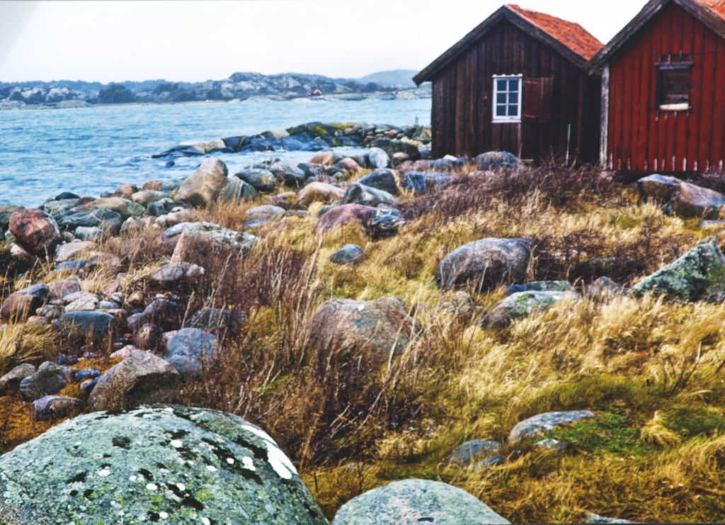 Paisaje típico de la Costa Oeste de Suecia