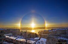 Peter Rosén fotografió el halo solar de Estocolmo de diciembre de 2010