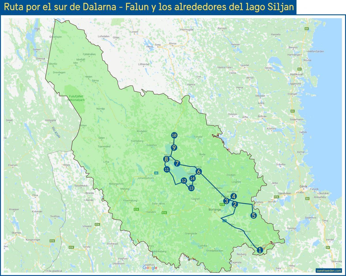 Ruta por Dalarna, Falun y lago Siljan <br> sweeetsweden.com