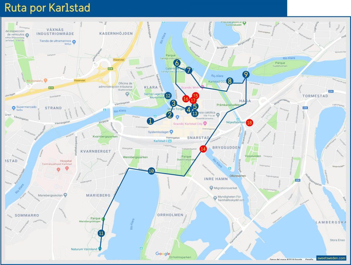 Ruta por Karlstad <br> sweetsweden.com