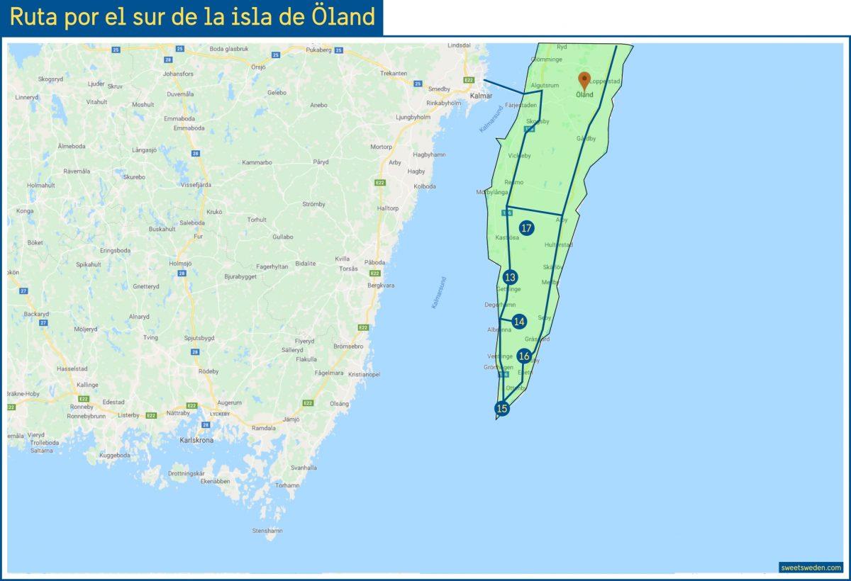 Ruta por el sur de la isla de Öland <br> sweetsweden.com