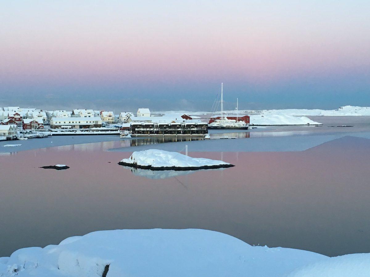El hotel flotante Salt o Sill en invierno <br> Foto: saltosill.se
