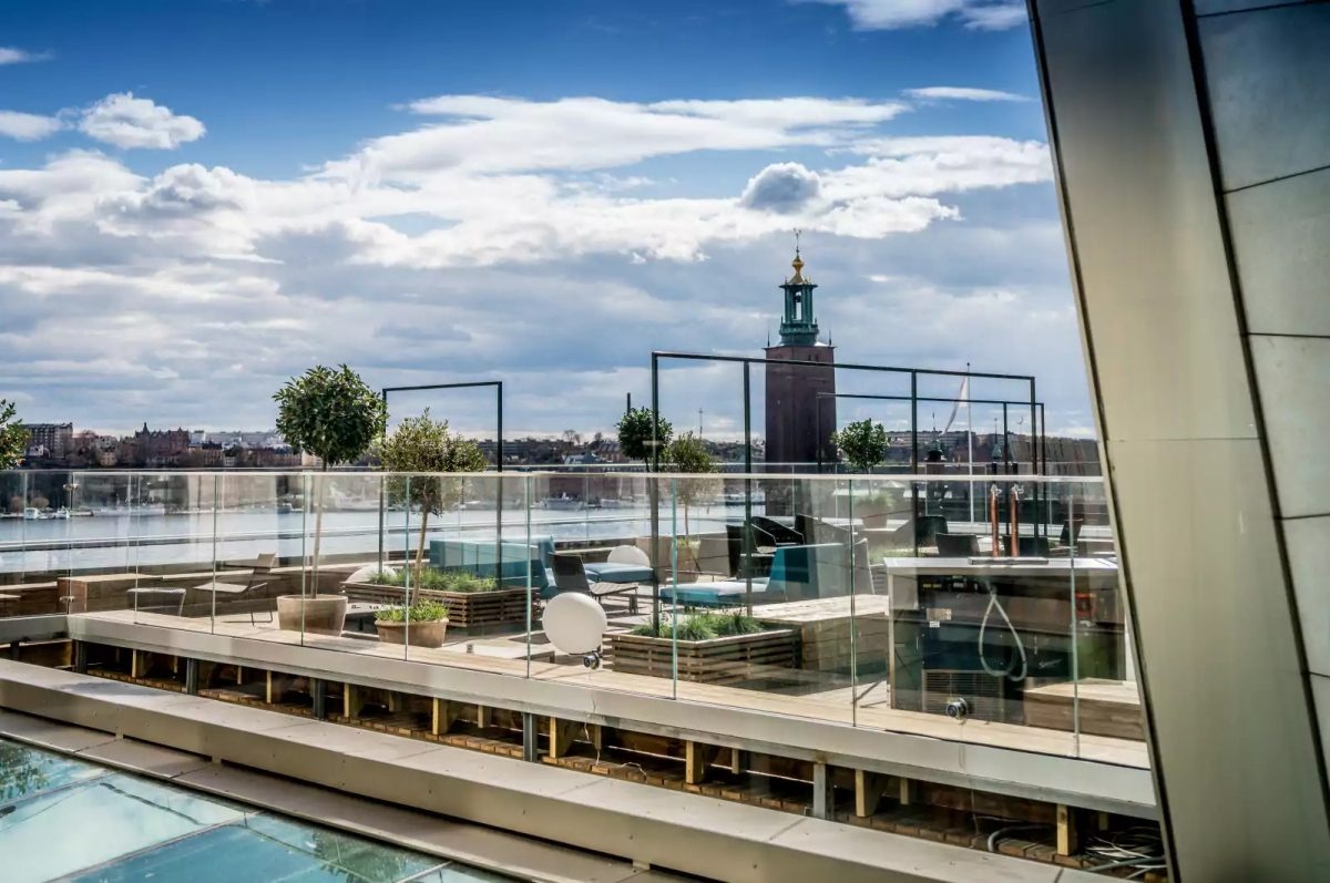 Capital rooftop bar and terrace at Scandic Continental in Stockholm