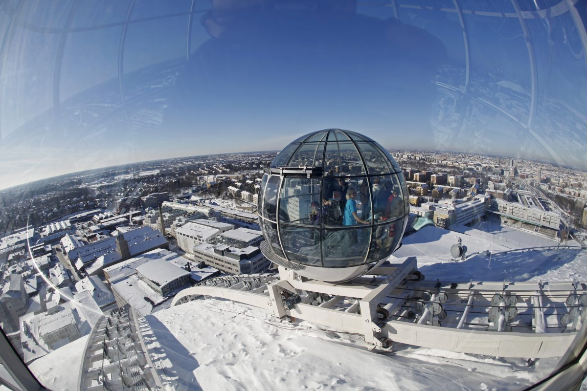 Winter sights of Stockholm from Globe Arena's Skyview elevators <br /> Photo: Sören Andersson / mediabank.visitstockholm.com
