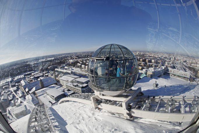 Vistas en invierno desde el Skyview en Estocolmo - Foto: Sören Andersson / mediabank.visitstockholm.com