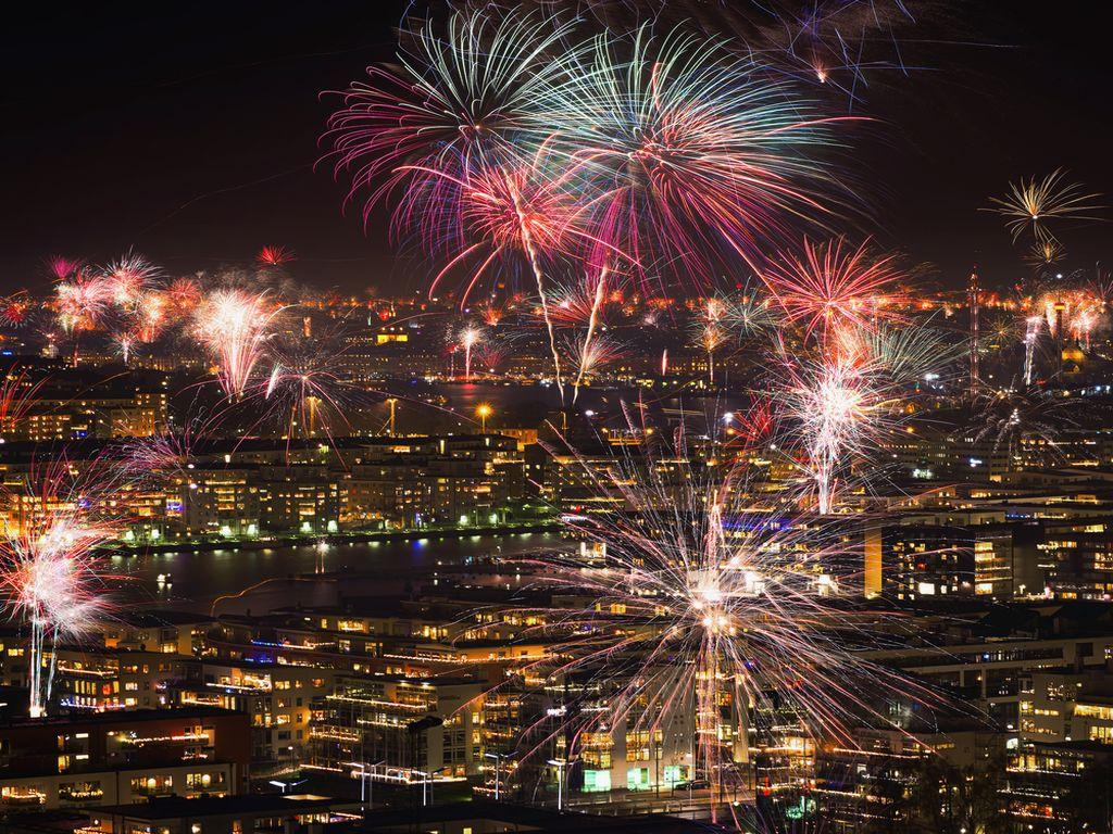 Fuegos artificiales en Estocolmo <br> Foto: blog.radissonblu.se