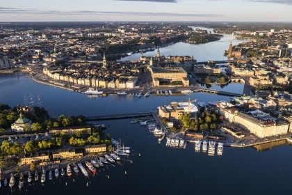 Vista de Estocolmo desde un helicóptero - Foto: Henrik Trygg / mediabank.visitstockholm.com