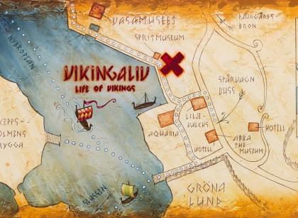 Situación del museo de los vikingos de Estocolmo - Vikingaliv