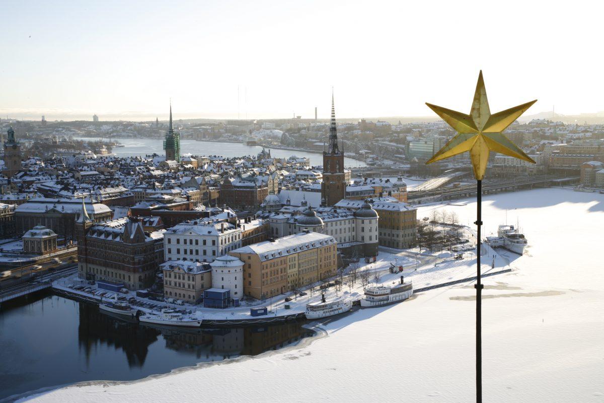 Vistas desde la torre del ayuntamiento de Estocolmo <br> Foto: Yanan Li