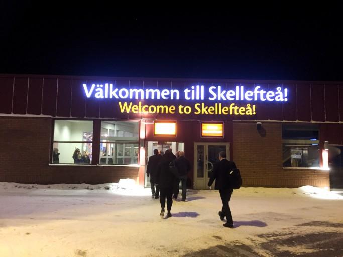Aeropuerto de Skellefteå en Suecia - Foto: Israel Úbeda / sweetsweden.com