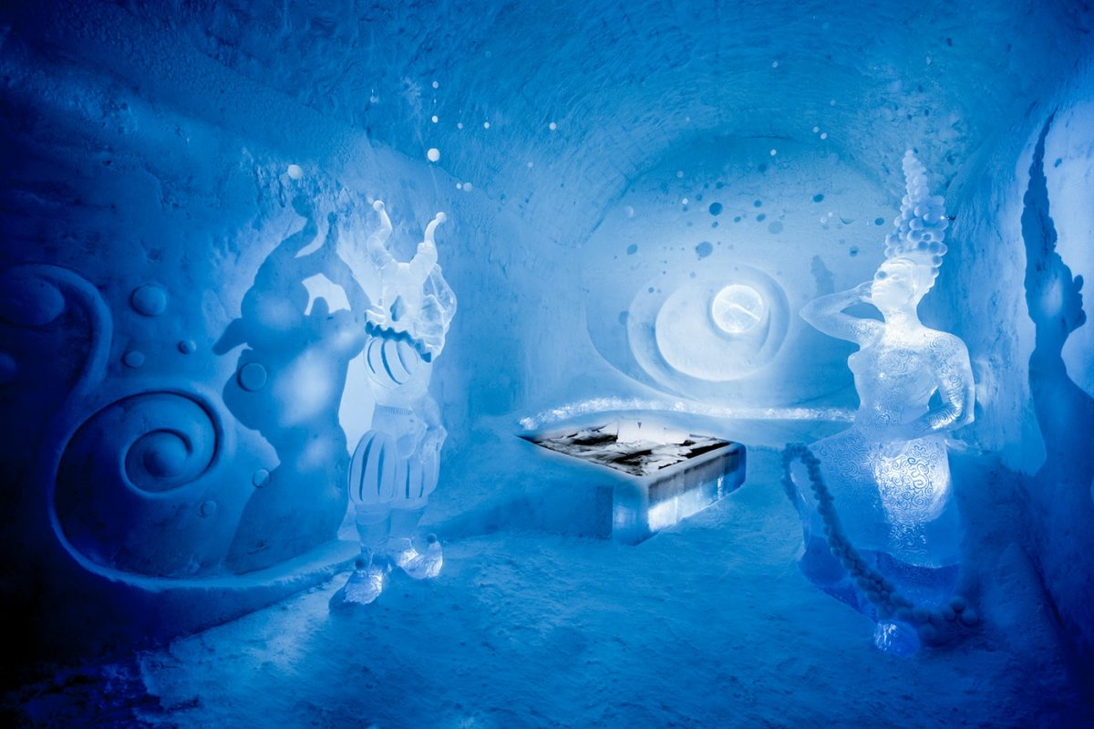 Dancers in the dark - Suite artística en el ICEHOTEL 365 de la Laponia sueca <br> Foto: Asaf Kliger