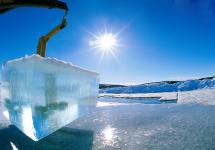 Bloques de hielo del ICEHOTEL en la Laponia sueca
