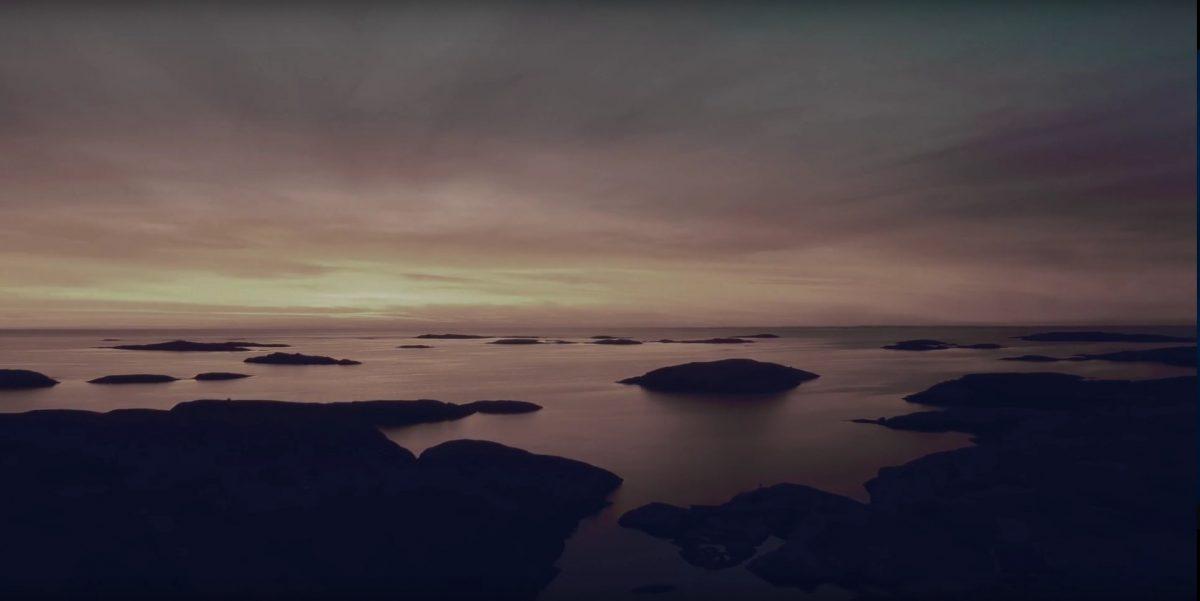 La costa oeste de Suecia en Bohuslän en invierno