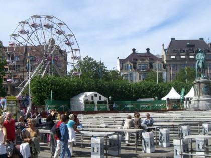 La plaza Gustav Adolfs torg en Malmö en agosto de 2008 Foto: Israel Úbeda / sweetsweden.com