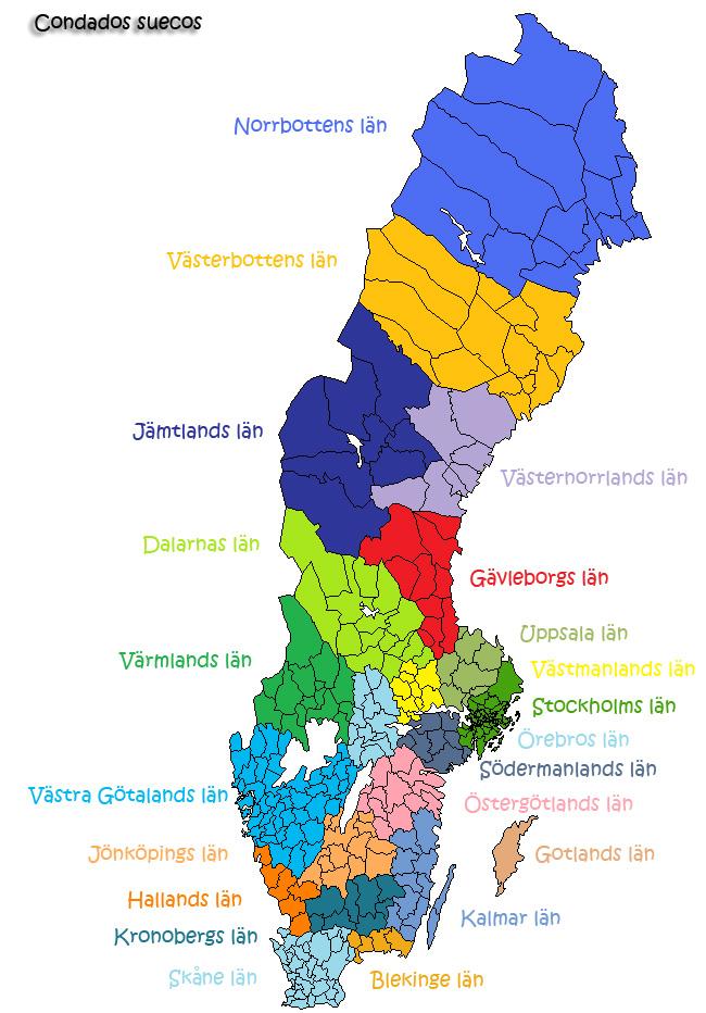 Los 21 condados suecos