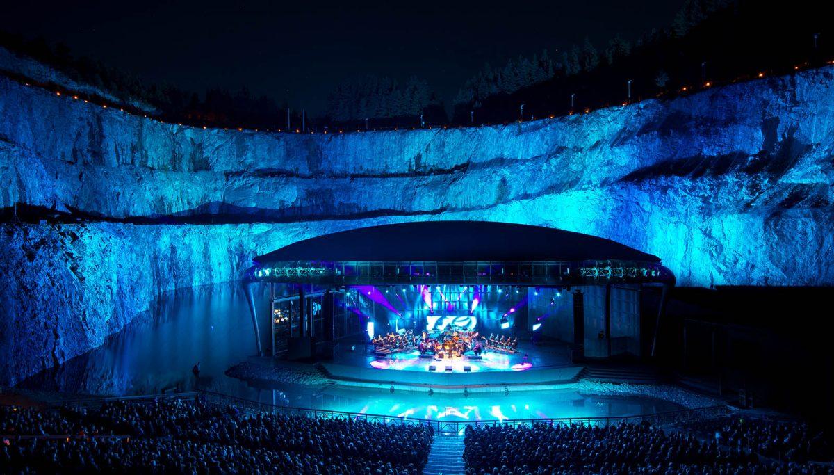 Dalhalla un escenario de conciertos al aire libre en Rättvik, Dalarna (Suecia) <br> Foto: dalhalla.se