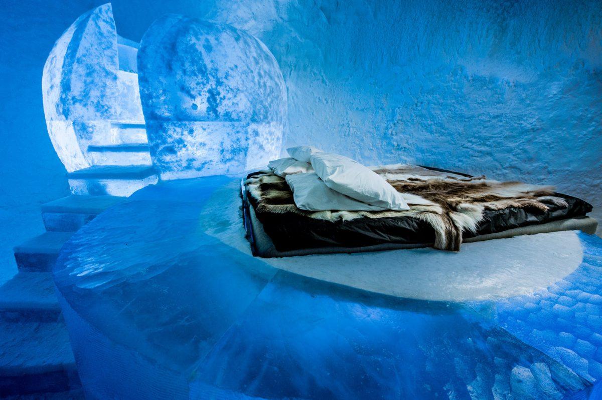 Wishful Thinking - Suite Deluxe del hotel de hielo ICEHOTEL 365 <br> Foto: Asaf Kliger