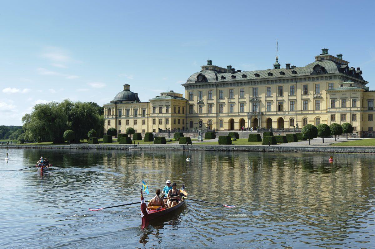 El palacio de Drottningholm en Estocolmo <br> Foto: Gomer Swahn