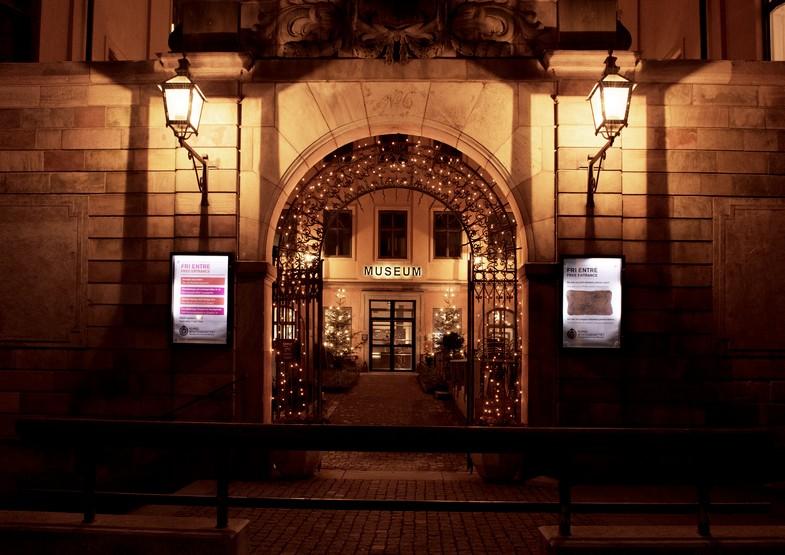 La entrada del Museo de Economía de Suecia <br> SHMM.se