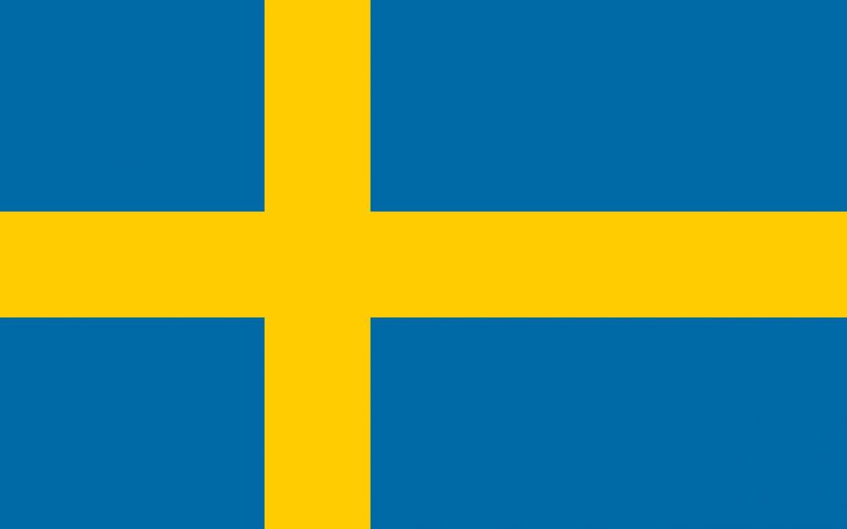 Bandera de Suecia<br> imagebank.sweden.se