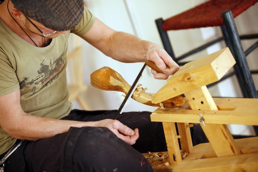 Trabajando la madera en Småland <br> Foto: smalandsbilder.se