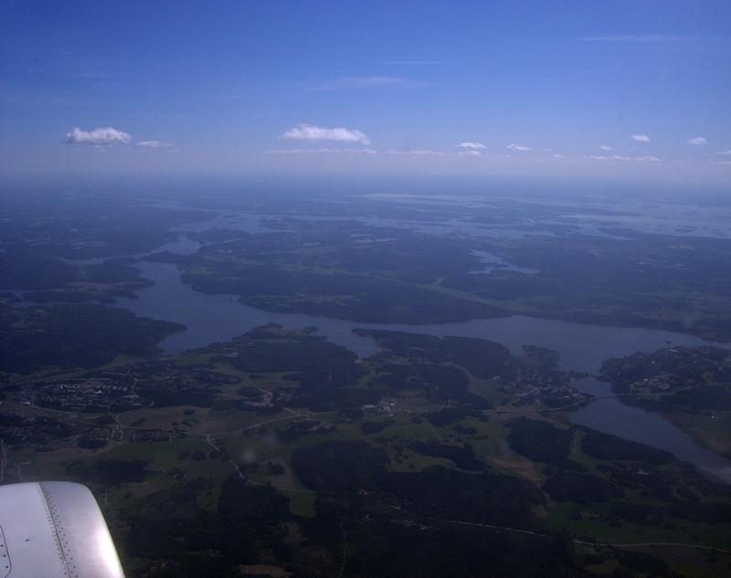 Foto aérea de Suecia