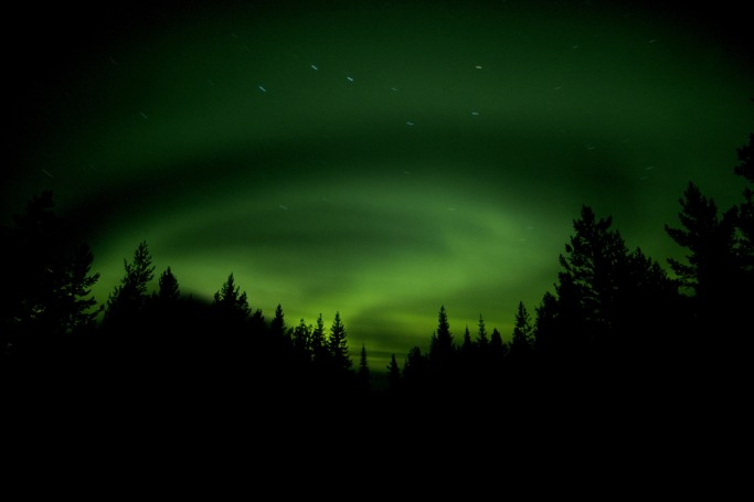 Aurora boreal en Suecia - Foto: Fredrik Broman / imagebank.sweden.se