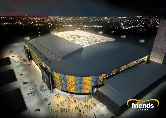 Estadio Friends Arena en Solna, Estocolmo, Suecia