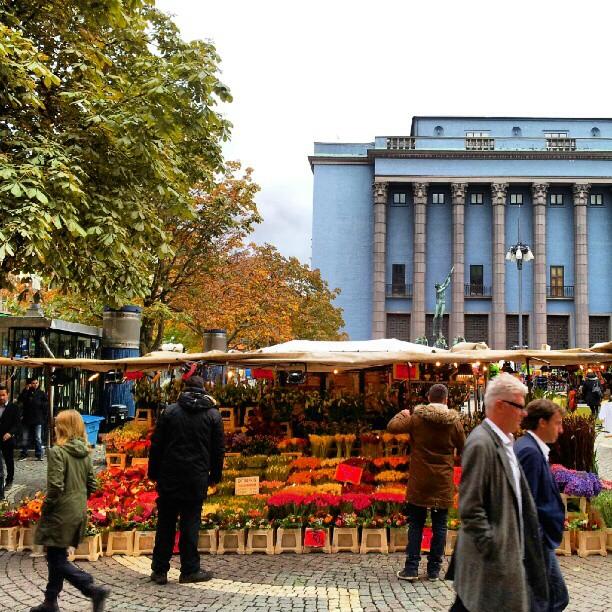 La plaza Hötorget en Estocolmo - Foto: Israel Úbeda / sweetsweden.com
