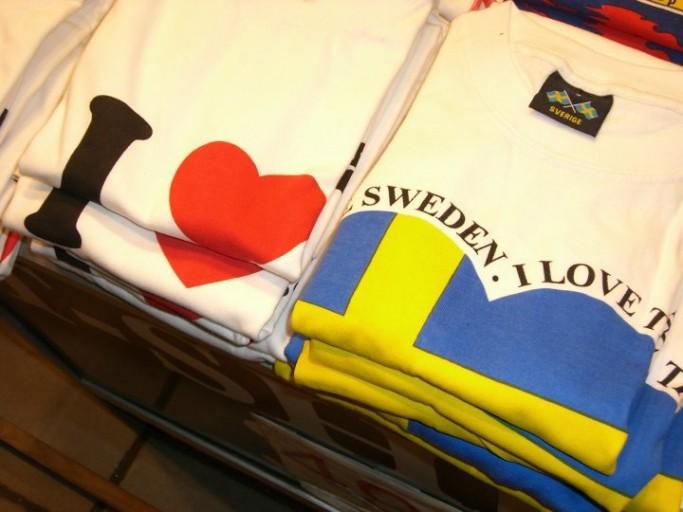 Camiseta I love Sweden, foto: Israel Úbedaq