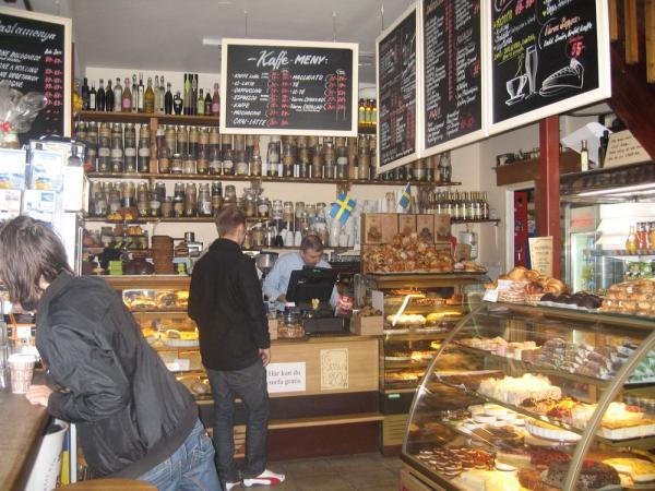 Interior del Café 60 en Estocolmo