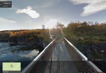 El Kungsleden o Sendero del Rey en Suecia disponible en Street View de Google