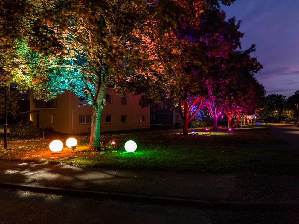 Light in Alingsås, el festival de luz en otoño en Suecia <br> Foto: Patrik Gunnar Helin
