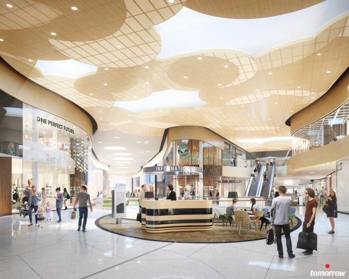 Interior de Mall of Scandinavia - foto: archinect.com