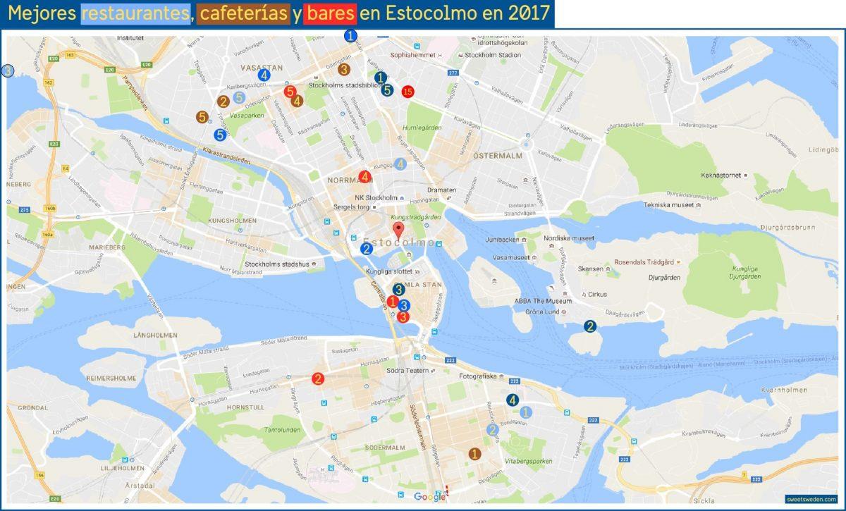Mejores restaurantes, bares y cafeterias en Estocolmo en 2017 <br> sweetsweden.com