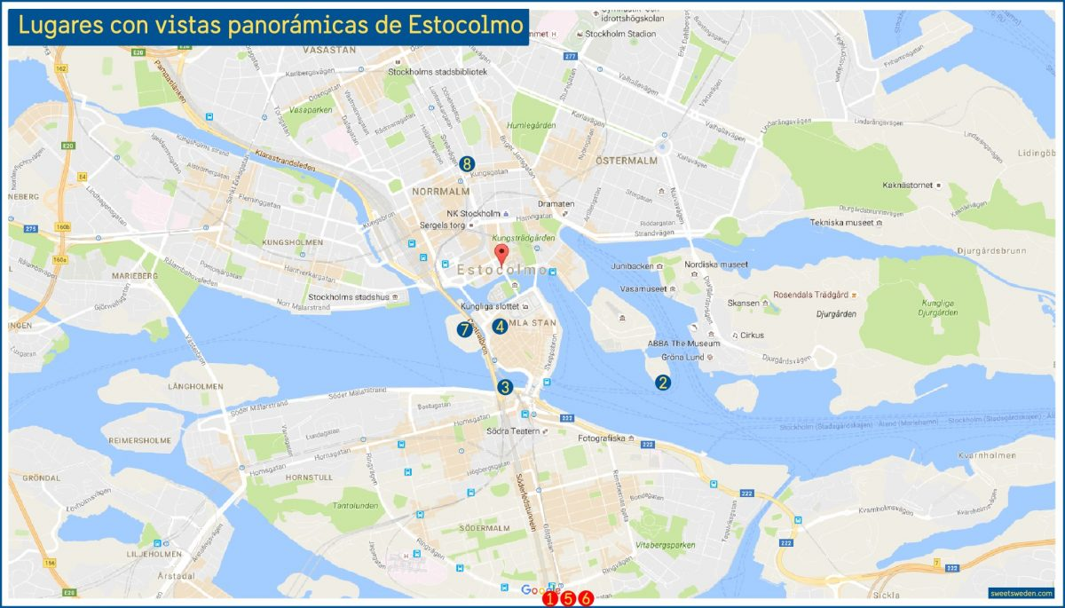 Otros ocho lugares con vistas panorámicas de Estocolmo<br> sweetsweden.com