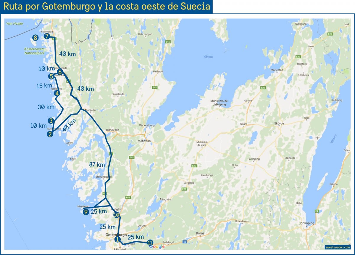 Ruta por Gotemburgo y Costa Oeste de Suecia / sweetsweden.com