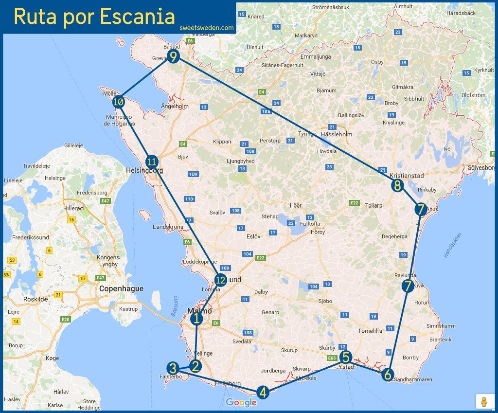 Ruta por Escania <br> sweetsweden.com