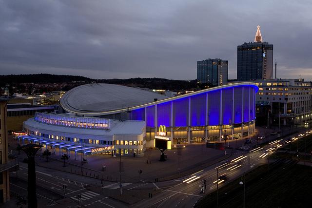 Scandinavium en Gotemburgo, foto: Jorma Valkonen