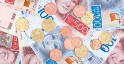 Nuevas monedas y billetes en Suecia