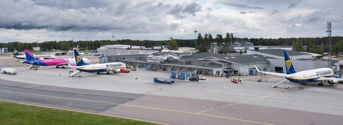 Aeropuerto de Skavsta en Nyköping, Suecia