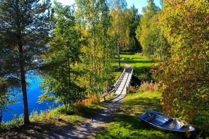 Paisaje de Skellefeteå en la Laponia sueca<br> Foto: Israel Úbeda / sweetsweden.com