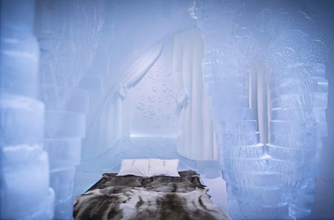 Sketch de la habitación pluviselva del ICEHOTEL